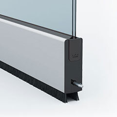 Movable glass wall system with bespoke straightline profiles